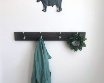 Wood Coat Rack - Simple Coat Rack - Farmhouse Coat Rack - Modern Coat Rack - Towel Rack - Simple Towel Rack - Wood Towel Rack - Wall Mounted