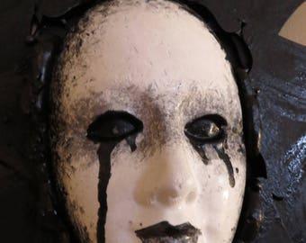 Black Magic Series Weeping Goddess Original Wall sculpture by TW Klymiuk