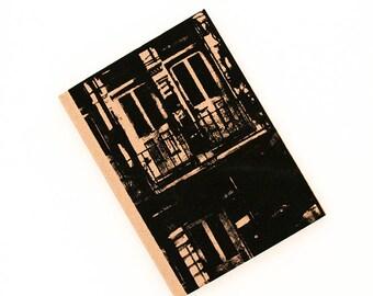 Screen print, travel journal, book design, screen printed Notebook