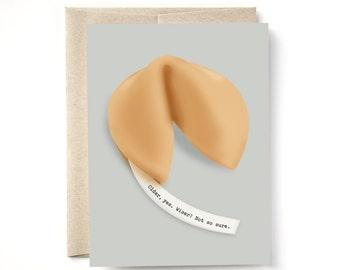 Fortune Cookie Wiser Birthday Card