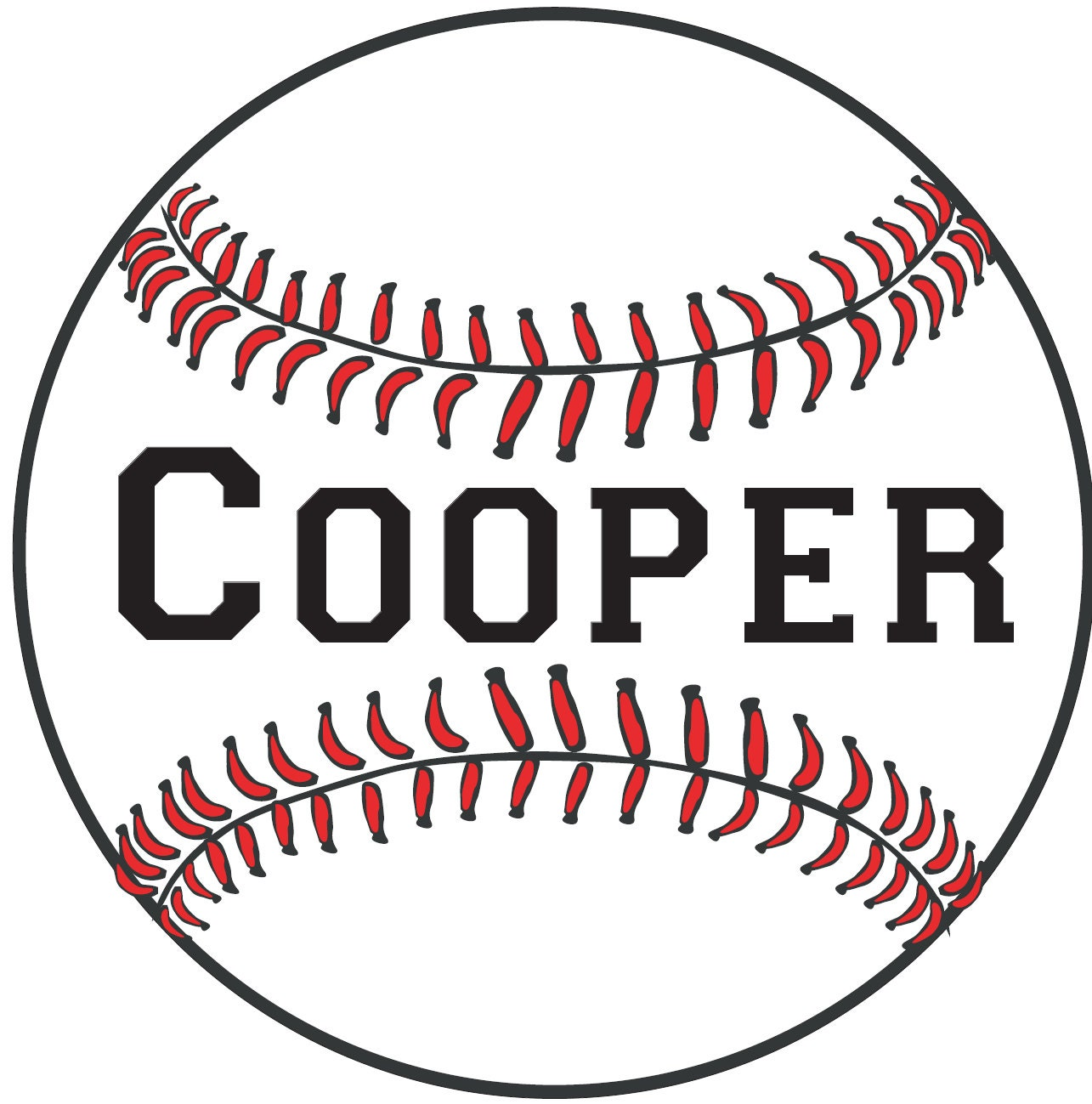 285 Personalized Baseball Name Wall Decal