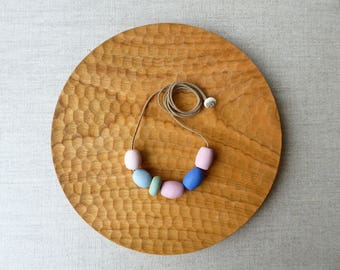 Mix Porcelain Bead Necklace In Berry & Indigo Sample Sale