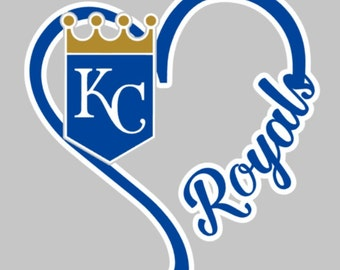 I Heart Royals, window decal, Kansas City, baseball, World Series Champs