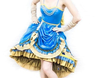 Steampunk victorian Alice in Wonderland dress