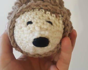 Sale-Handmade crochet stuffed hedgehog, amigirumi, stuffed toy, plush friend