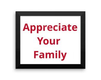 Appreciate Your Family