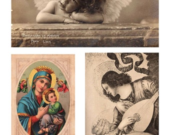 Instant download high resolution digital  Pink Angels digital art sheet