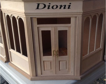 Miniature Corner Roombox Kit- Dioni by miniLAND 3min assembly 1:12 Wood shop room