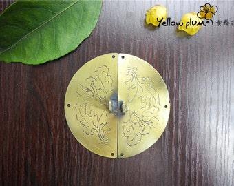 75*75mm Antique Brass Color cabinet latch box latch door latch can match a lock A044