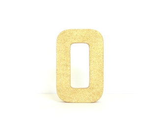 Glittered 8 Inch Letter, All Sides Glittered, Protective Varnish Topcoat, Stand Alone Paper Mache, Choose Letters, Choose Glitter Color