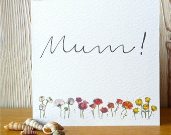 """Mother's Day Card - """"Buttercups"""" - Illustration - Art"""