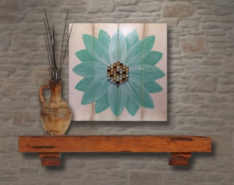Distressed Flower Plank Art (LARGE)