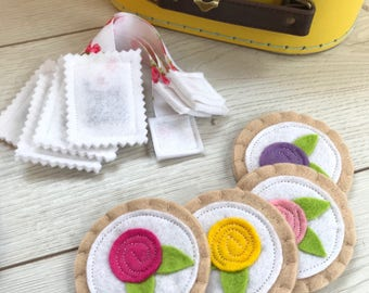 Pretend Play Felt Tea Party Set - Perfect Gift!