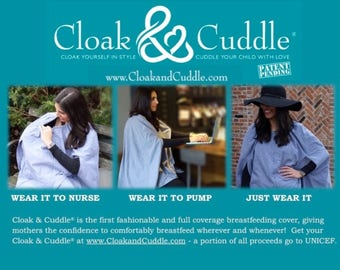 CLOAK & CUDDLE®: fashionable full coverage breastfeeding cover / nursing cover / baby shower gift / baby shower must have / mothers day gift