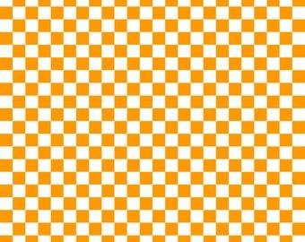 Pumpkin Orange Checkered Cardstock Paper