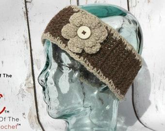 Natalie Ear Warmers | Crochet Pattern | Crochet Flower Ear Warmers Pattern | Crochet Ear Warmers | Ear Warmers Teens/Adult | PDF Pattern