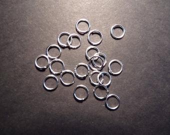 Set of 40 metal rings broken 5 mm in diameter