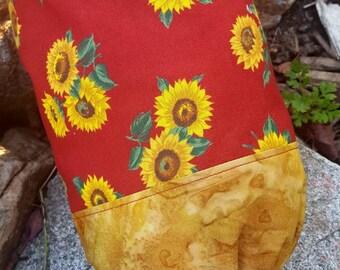 Sunflower Plastic Shopping Grocery Bag Holder, Bag Dispenser, Sunflower Decor, Bag Keeper
