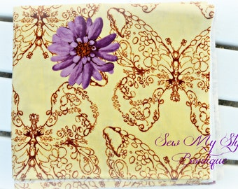 Fabric-Yardage/Butterfly/Treetop Fancy/ Huckleberry by Westminster/Free Spirit Quilt Fabric
