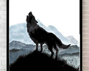 Wolf - Print  Poster