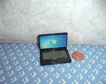 1:12 scale Dollhouse miniature Laptop computer