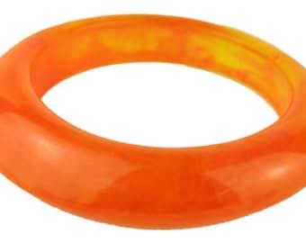 Orange Cloudy/Marble Retro 1960s/70s Bangle