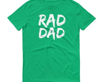 Rad Dad T Shirt New Fathers Day Kids Gift To Daddy Pregnancy Announcement Shirt Baby Shower Grandparents Gift to New Parents