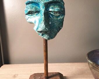 """hand built sculpture """"Listen"""""""