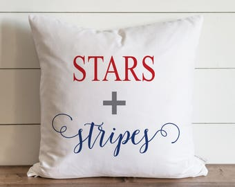 Stars + Stripes_Color 20 x 20 Pillow Cover // Summer // Everyday // 4th of July // Independence Day // Patriotic // Gift // Accent Pillow