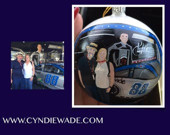 Custom Painted Christmas Ornament Portrait Christmas Ornament  Family Portrait Ornament