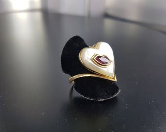 Heart and Ruby mouth ring