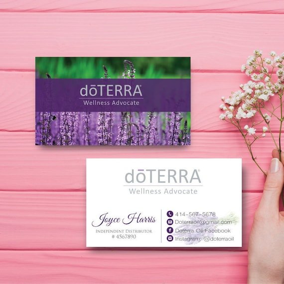 Doterra Business Card Custom Doterra Business Card Custom - Doterra business card template