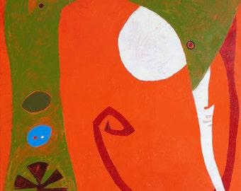 Abstract Art Original Oil Painting - MISUNDERSTANDING - canvas Wall art