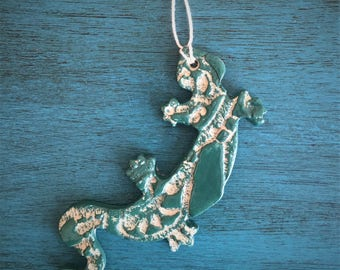 Ceramic Lizard Ornament or Magnet