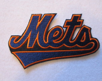 New York Mets Iron On Patch, Iron On Patch, New York Mets Applique, NY Mets, New York, NY, Mets, New York Mets