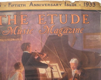 The Etude Music Magazine - 50th Anniversary Issue -  October 1933