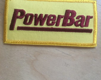 """Power Bar patch yellow and burgandy sports 3.75"""" x 2"""""""