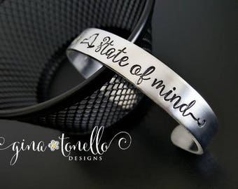 New York State Bracelet, New York State of Mind Bracelet, NYC, Albany, Syracuse, Rochester NY, Buffalo NY, New York Gift, New York Cuff