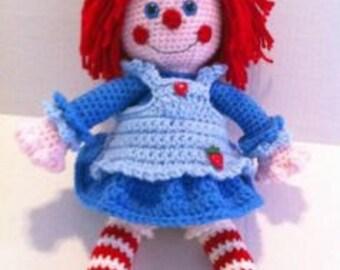 Doll Crochet Pattern Rag Doll Annie