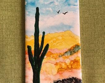 Saguaro on tile