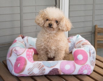 Donut Bed for Cat or Small Dog, Pet Bed