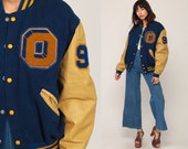Wool Letterman Jacket O'FALLON PANTHERS Varsity Jacket LEATHER Baseball Jacket Football Bomber 80s Coat Sports Vintage Extra Large xl