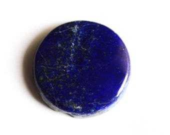 Good Quality 52 Carats Natural Blue Lapis Lazuli Cabochon, Round Shape, Semi Precious, GSuppliers, Pendant Jewellery Gemstone, Hand Cut 2878