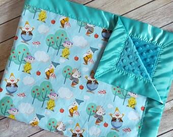 Seven Dwarfs minky blanket, disney baby blanket, snow white baby blanket, disney nursery,  seven dwarfs blanket
