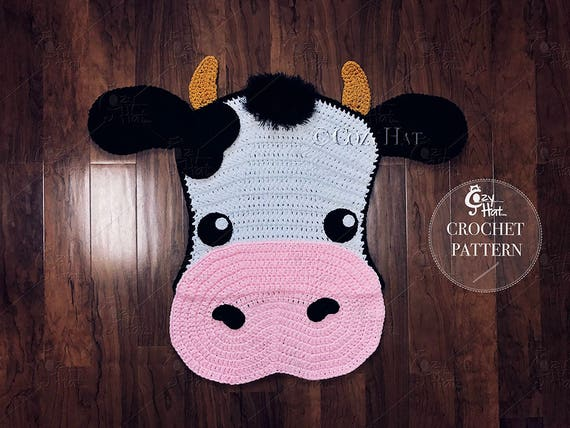 Amigurumi Patterns Cow : Crochet pattern molly the cow rug by cozy hat