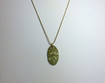 Pendant - Lime green with gold highilght Bamboo leaves