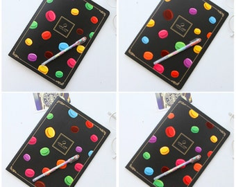 Notebook - Classic Macaroon Black Pages Notebook | Writing Supplies | Back to School