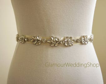 Sale - Wedding Belt Bridal Belt Sash Bridal Sash Belt Crystal Sash Rhinestone Belt Wedding Belt Sash Crystal Wedding Belt