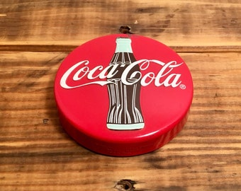 """1996 Coca Cola Company Paperweight 3.5"""" wide"""