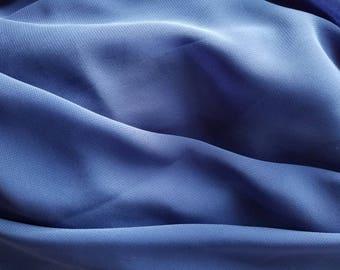 Royal Blue Chiffon Sheer Fabric Yardage